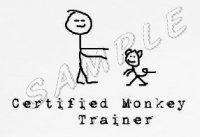 certified monkey trainer